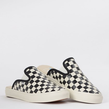 Tênis Vans Mule Sf Leather Checkerboard Black White VN0A4U11XBU