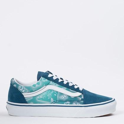 Tênis Vans Old Skool Better Together Maroccan Blue True White VN0A3WKT4PC