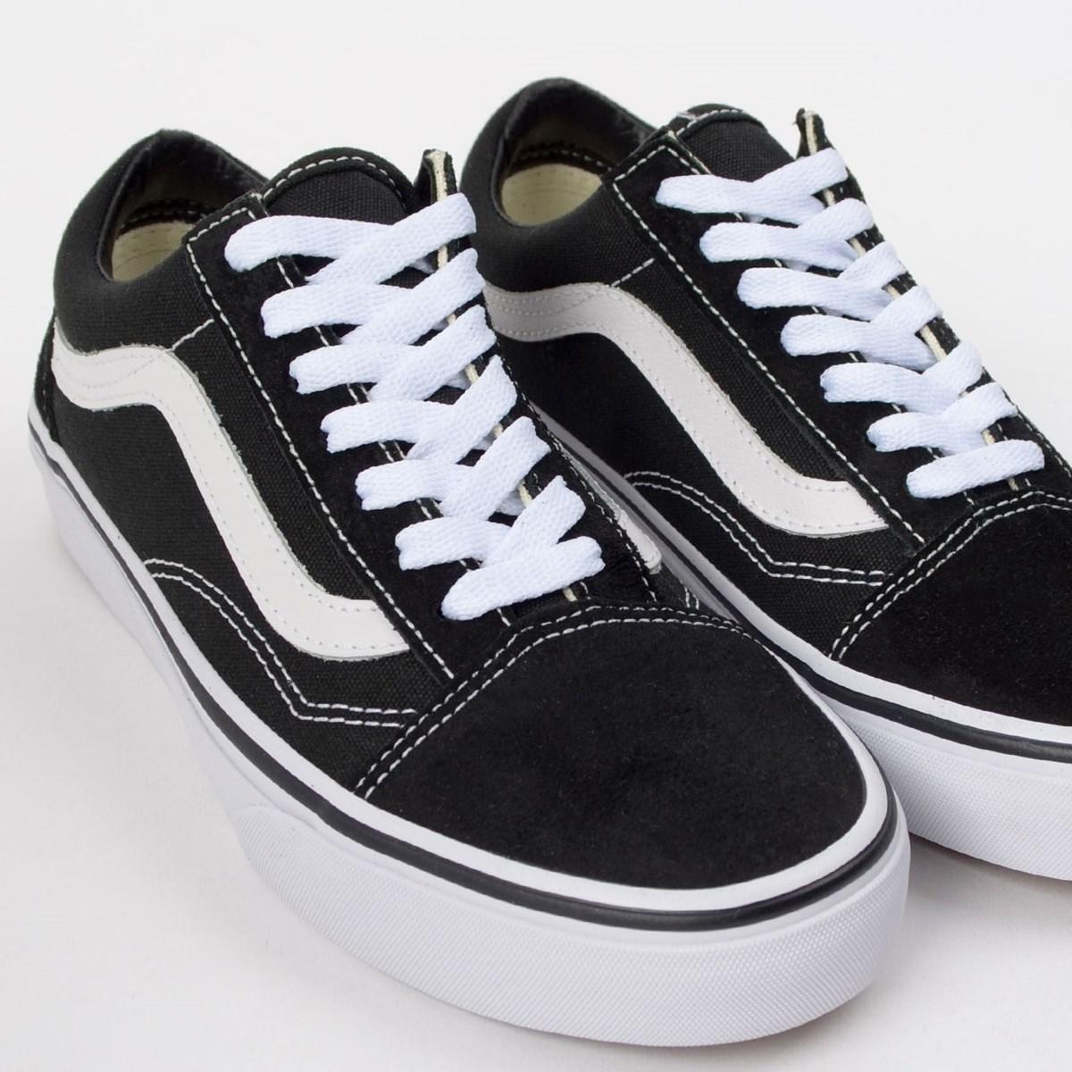 Tênis Vans Old Skool Black White VN000D3HY28