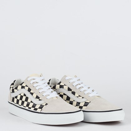 Tênis Vans Old Skool Checkerboard White Black VN0A38G127K
