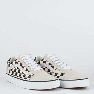 Tênis Vans Old Skool Checkerboard White Black VN0A38G127KP