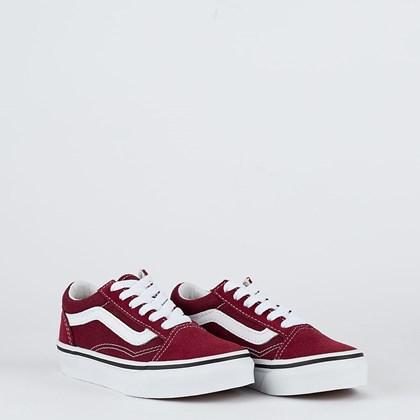 Tênis Vans Old Skool Kids Pomegranate True White VN000W9T9AK