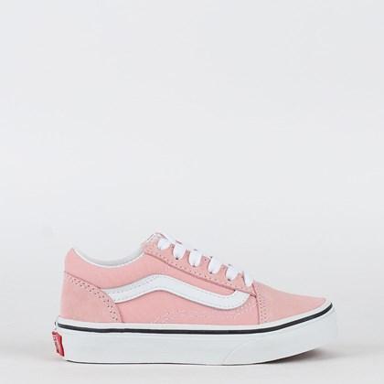Tênis Vans Old Skool Kids Powder Pink True White VN000W9T9AL
