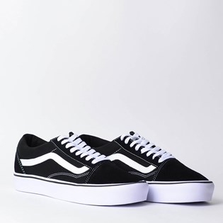 Tênis Vans Old Skool Lite Suede Canvas Black White VN0A2Z5WIJU