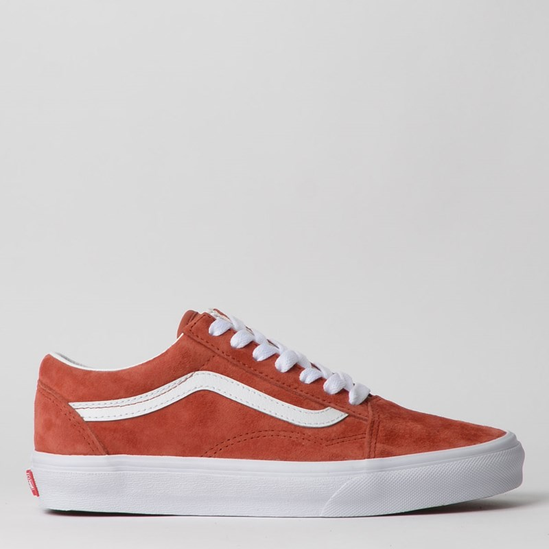 Tênis Vans Old Skool Pig Suede Burnt Brick True White VN0A4BV5V75