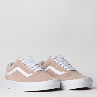 Tênis Vans Old Skool Pig Suede Shadow Gray True White VN0A4BV5V79