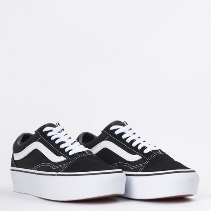 Tênis Vans Old Skool Platform Black White VN0A3B3UY28