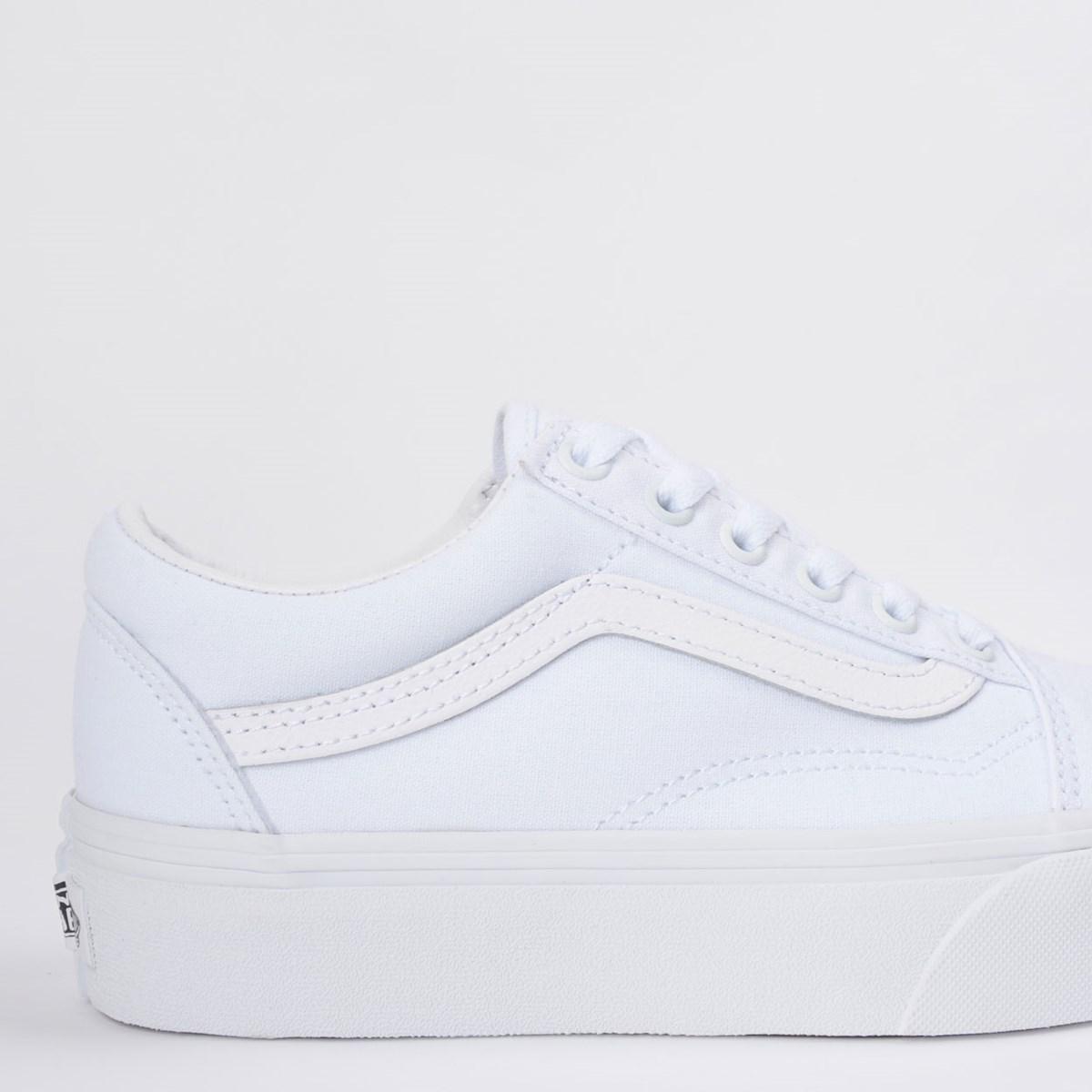 Tênis Vans Old Skool Platform True White VN0A3B3UW00