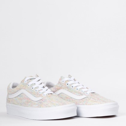 Tênis Vans Old Skool Rainbow Jersey Multi True White VN0A4U3BWN5