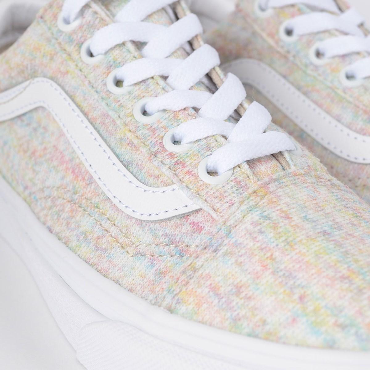 Tênis Vans Old Skool Rainbow Jersey Multi True White VN0A4U3BWN5
