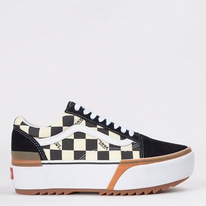 Tênis Vans Old Skool Stacked Checkerboard Multi True White VN0A4U15VLV