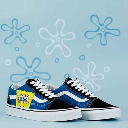 Tênis Vans Old Skool X Bob Esponja Squarepants Black Blue VN0A38G19XD