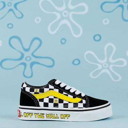 Tênis Vans Old Skool X Bob Esponja Squarepants Kids Off The Wall VN000W9T9EK