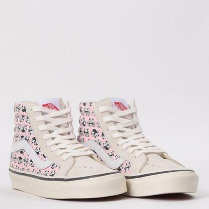 Tênis Vans Sk8 Hi 38 Dx Anaheim Factory Og Pandas White Pink VN0A38GFXHJ