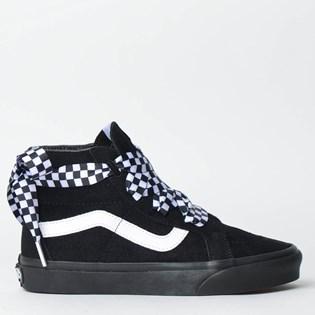 Tênis Vans Sk8 Hi Alt Lace Checkerboard Black Black VN0A3TKLVL5P