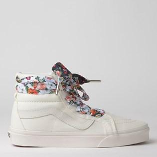 Tênis Vans Sk8-Hi Alt Lace Mixed Wrap Blanc De Blanc Floral VN0A3TKLXKK