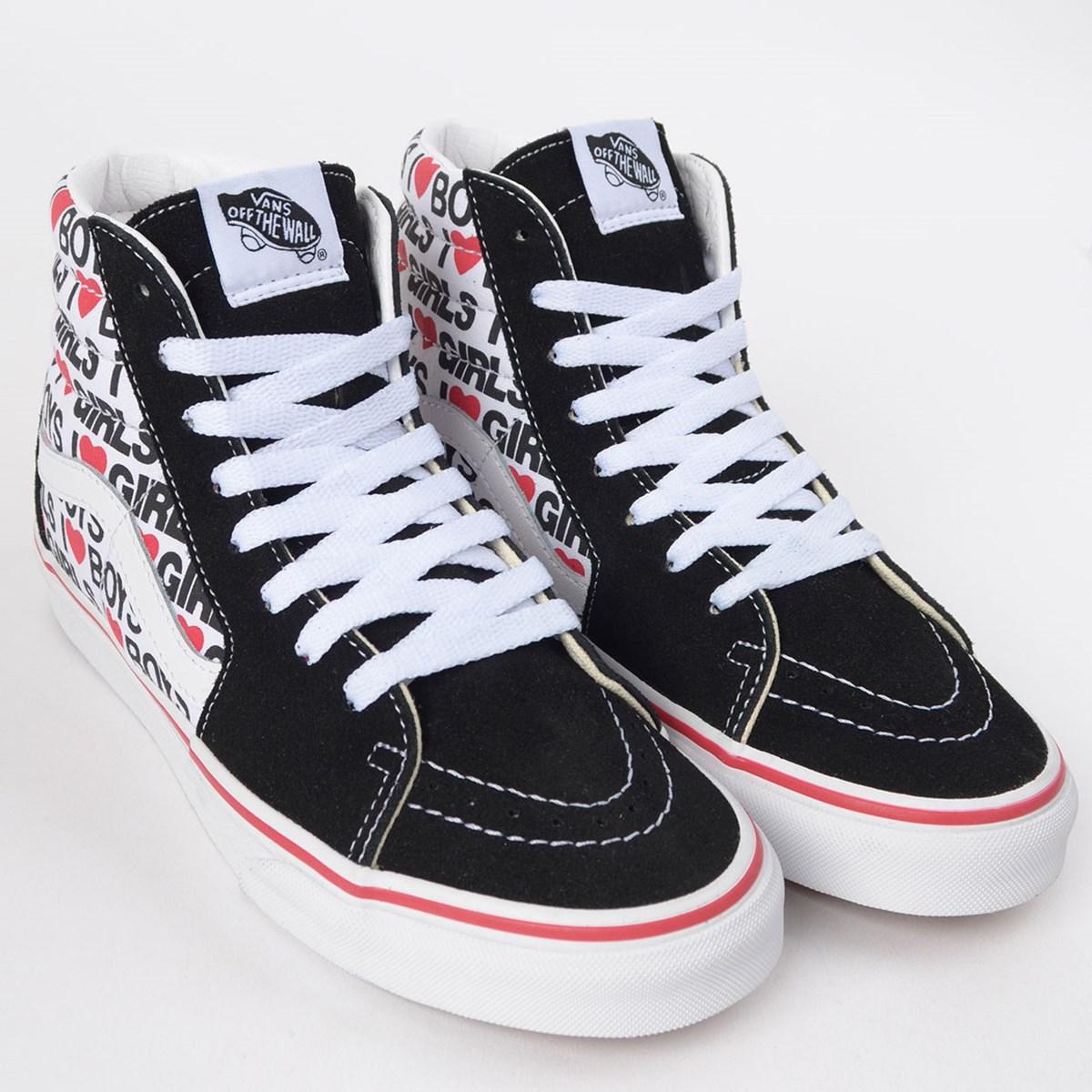 Tênis Vans Sk8 Hi I Heart Black True White VN0A4U3CWKU