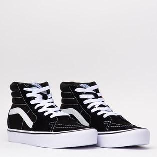 Tênis Vans SK8 Hi Lite Suede Canvas Black White VN0A2Z5YIJU