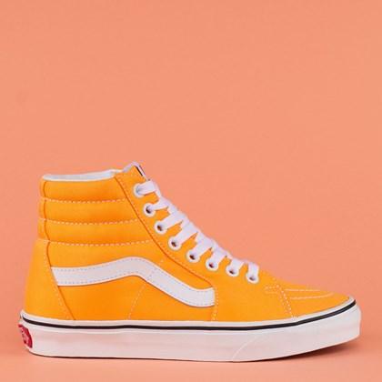 Tênis Vans Sk8 Hi Neon Blazing Orange True White VN0A4U3CWT4