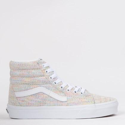 Tênis Vans SK8 Hi Rainbow Jersey multi True White VN0A4U3CWN5