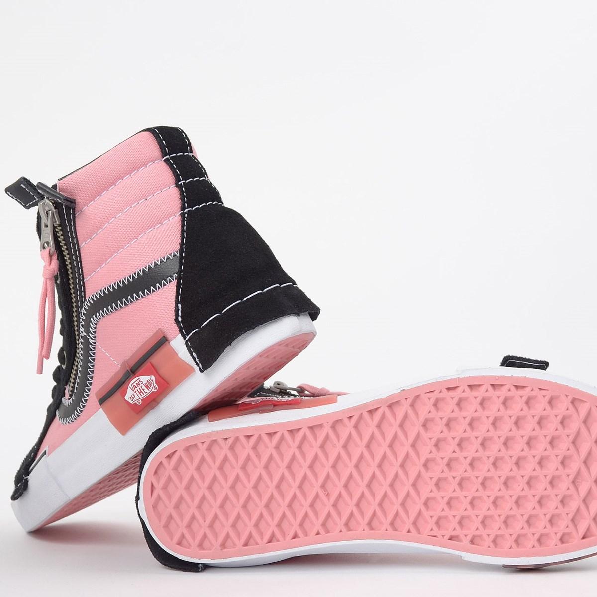 Tênis Vans Sk8 Hi Reissue Cap Black Pink VN0A3WM1BEM
