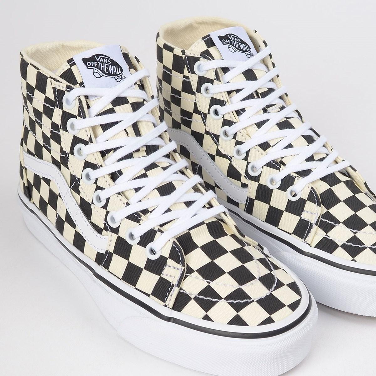 Tênis Vans Sk8 Hi Tapered Checkerboard Black True White VN0A4U165GU