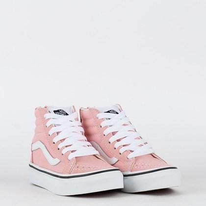 Tênis Vans Sk8 Hi Zip Kids Powder Pink True White VN0ABUX9AL