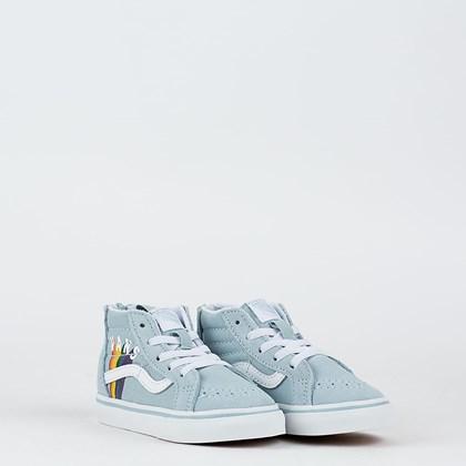 Tênis Vans Sk8 Hi Zip Rainbow Kids Wintersky True White VN000XG59EI