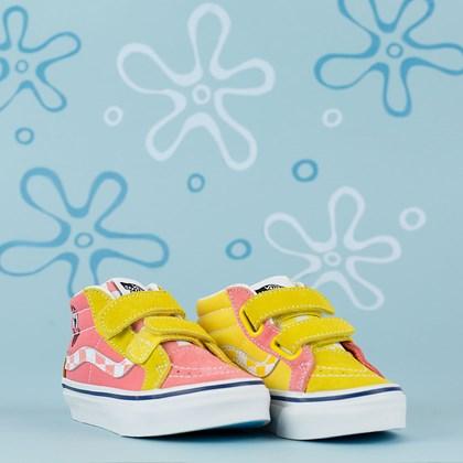 Tênis Vans Sk8 Mid Reissue V X Bob Esponja Squarepants Kids Best Friend VN00018T9ES