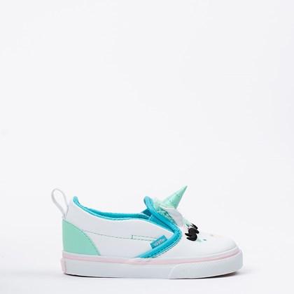 Tênis Vans Slip On V Unicorn Kids Blue Atoll VN0A5HFR3WS