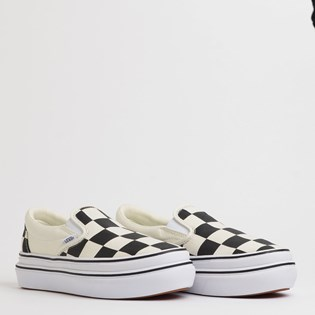 Tênis Vans Super Comfycush Slip On Big Classics Checker Black Off White VN0A4U1FXT4