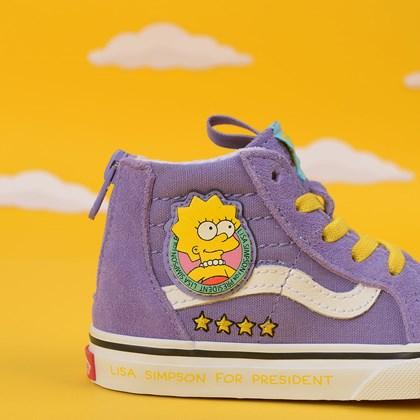 Tênis Vans The Simpsons Sk8 Hi Zip Baby Lisa 4 President Roxo VN0A4BV117G