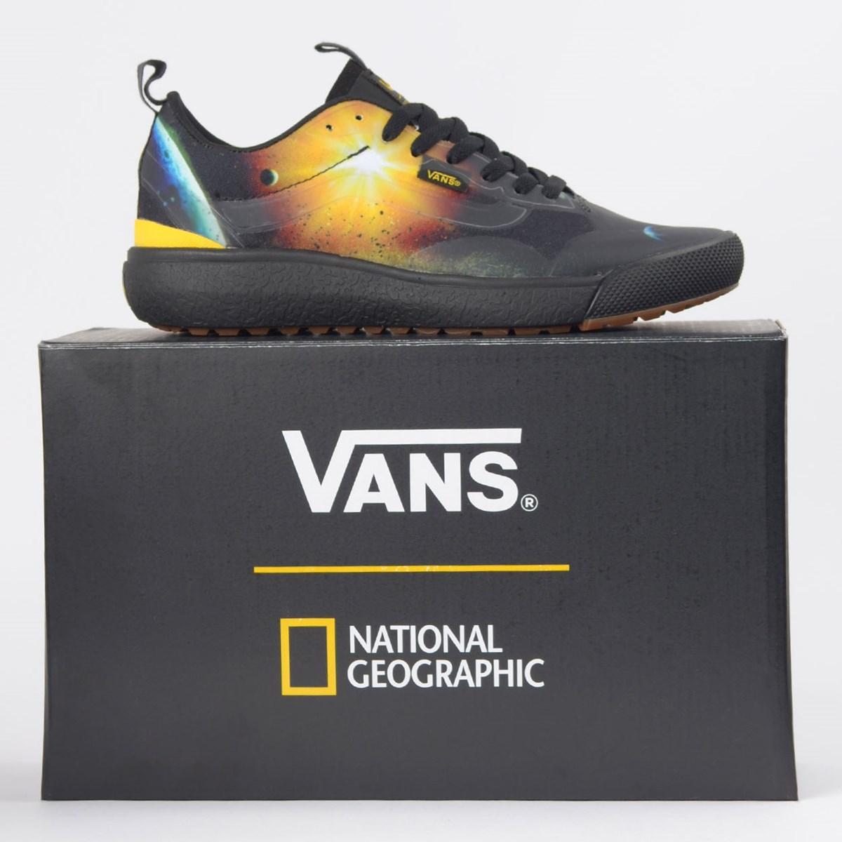 Tênis Vans Ultrarange Exo National Geographic Black Yellow VN0A4U1KXU3