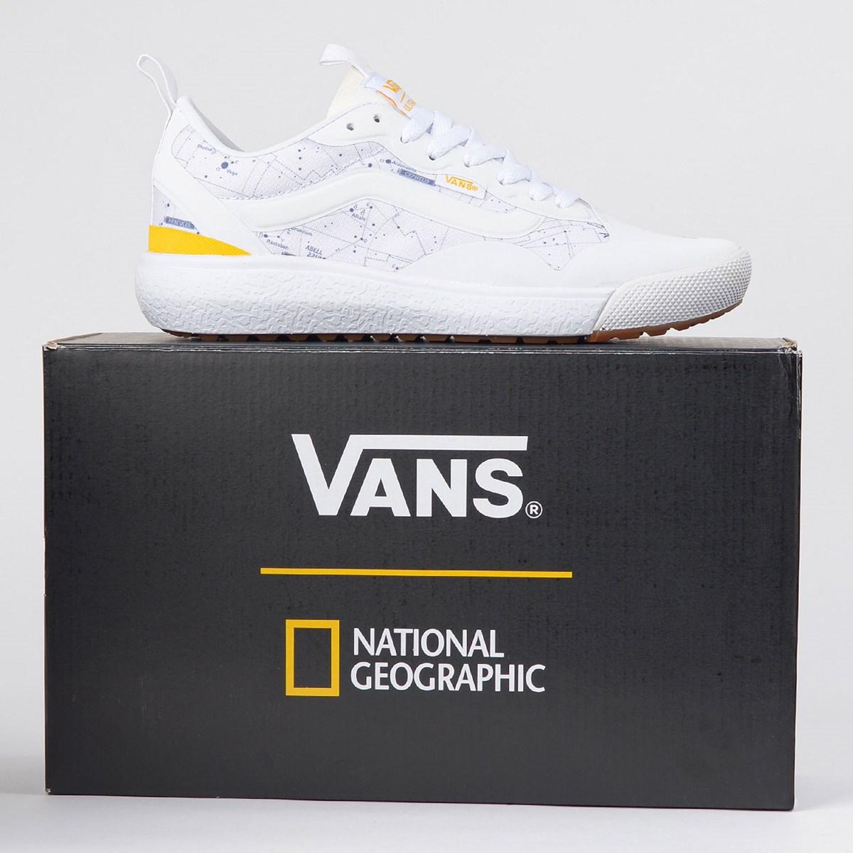 Tênis Vans Ultrarange Exo National Geographic White Yellow VN0A4U1KXU4