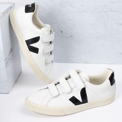 Tênis Vert Shoes 3-Lock Logo Leather Extra White Black EL020005