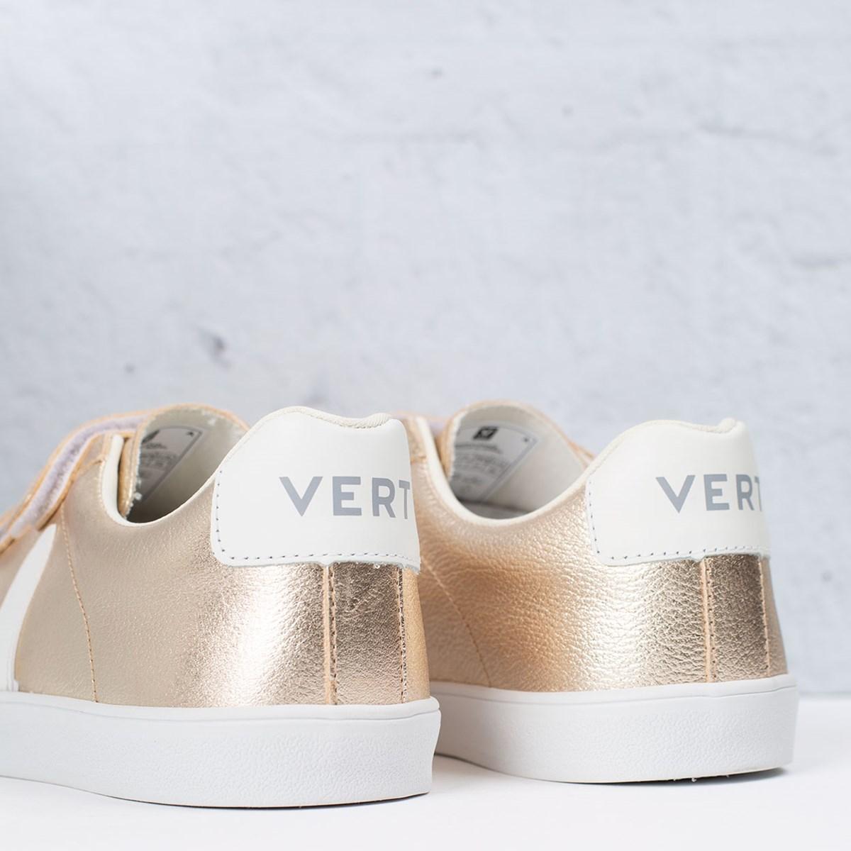 Tênis Vert Shoes 3-Lock Logo Leather Platine White EL022412