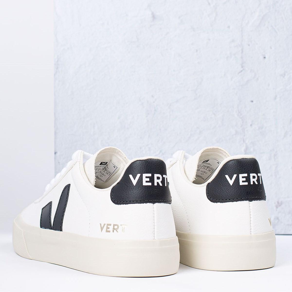Tênis Vert Shoes Campo Chromefree Extra White Black CP051537