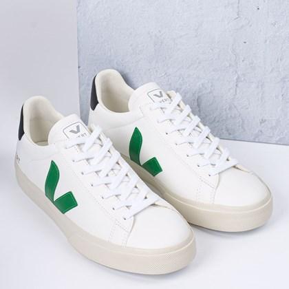 Tênis Vert Shoes Campo Chromefree Extra White Emeraude Black CP051928