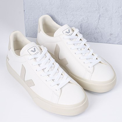 Tênis Vert Shoes Campo Chromefree Extra White Natural Suede CP052429