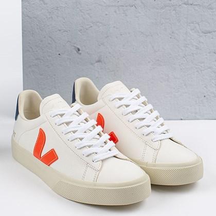 Tênis Vert Shoes Campo Chromefree Extra White Orange Fluo Cobalt CP052195