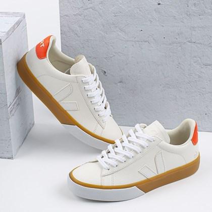 Tênis Vert Shoes Campo Chromefree NK Extra White Orange Fluo CP052882