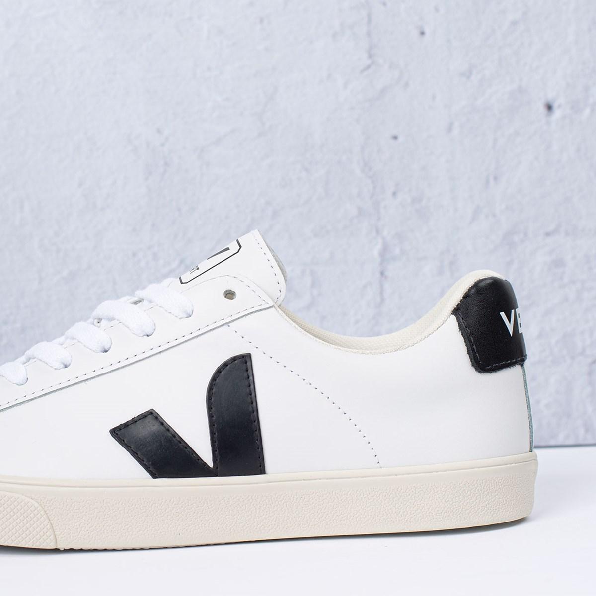 Tênis Vert Shoes Esplar Logo Leather Extra White Black EO020005