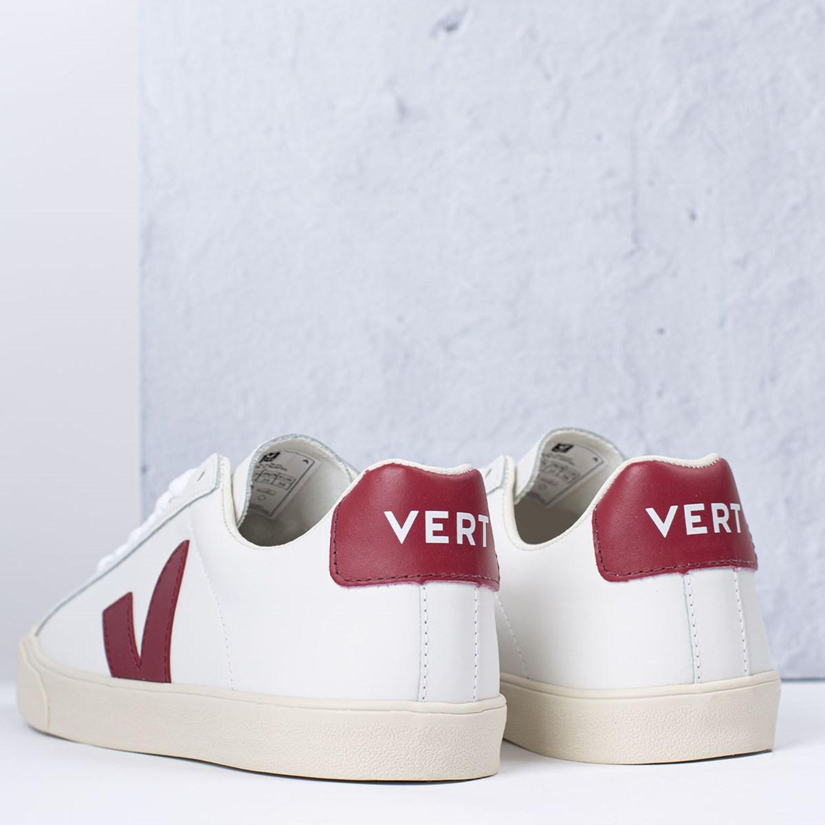 Tênis Vert Shoes Esplar Logo Leather Extra White Marsala EO022110