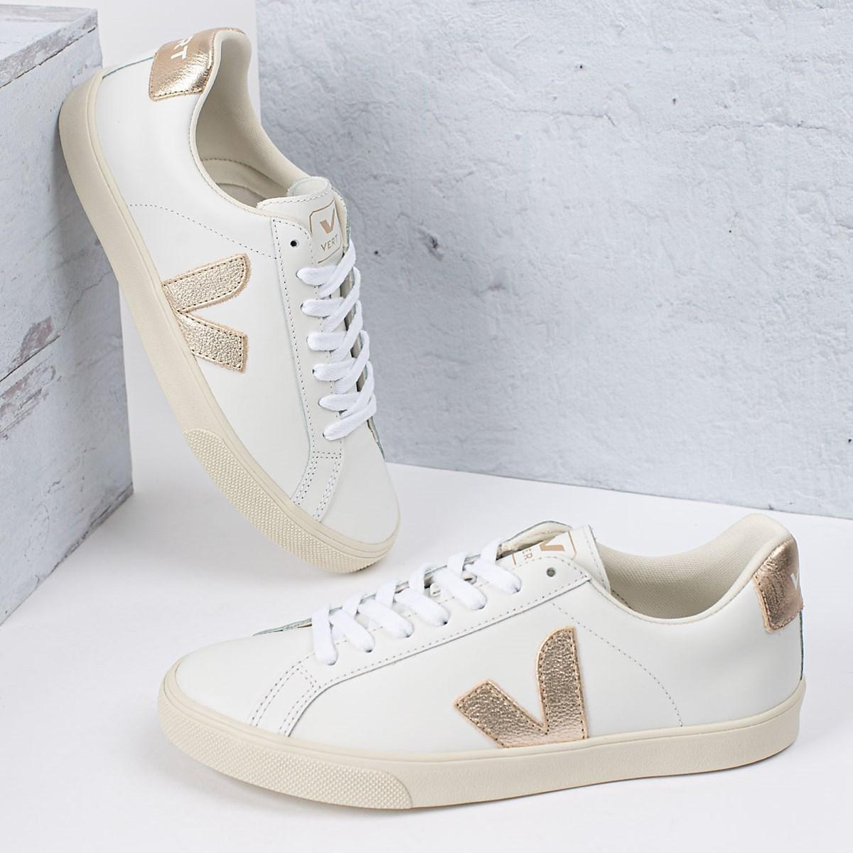 Tênis Vert Shoes Esplar Logo Leather Extra White Platine EO022490