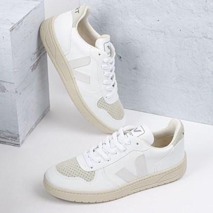 Tênis Vert Shoes V-10 CWL Vegan Full White Natural VX072530