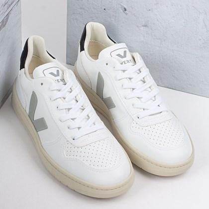 Tênis Vert Shoes V-10 CWL Vegan White Oxford Grey Black VX072527