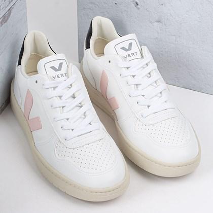 Tênis Vert Shoes V-10 CWL Vegan White Petale Black VX072558
