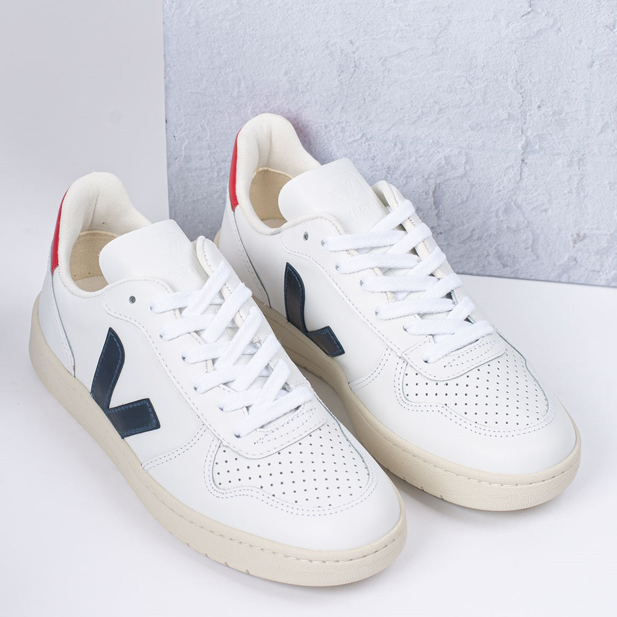 Tênis Vert Shoes V-10 Leather Extra White Nautico Pekin VX021267
