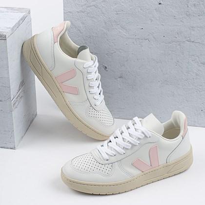 Tênis Vert Shoes V-10 Leather Extra White Petale VX022644