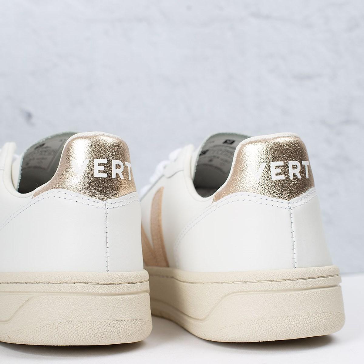 Tênis Vert Shoes V-10 Leather Extra White Platine VX022490